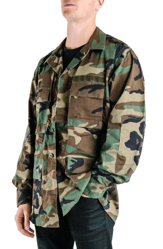 Lightweight BDU Camo Jacket - Genuine US Army Surplus
