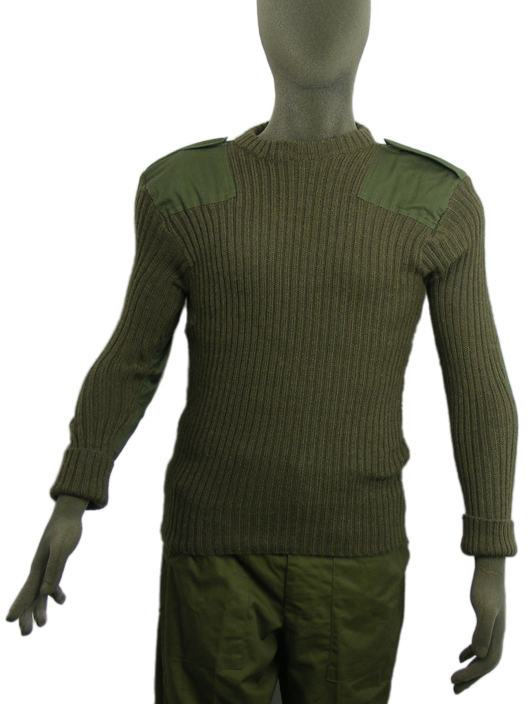 British Army Olive Green Jumper - Woolly Pulley