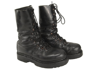 Austrian Army Leather Combat Boots - half-lined