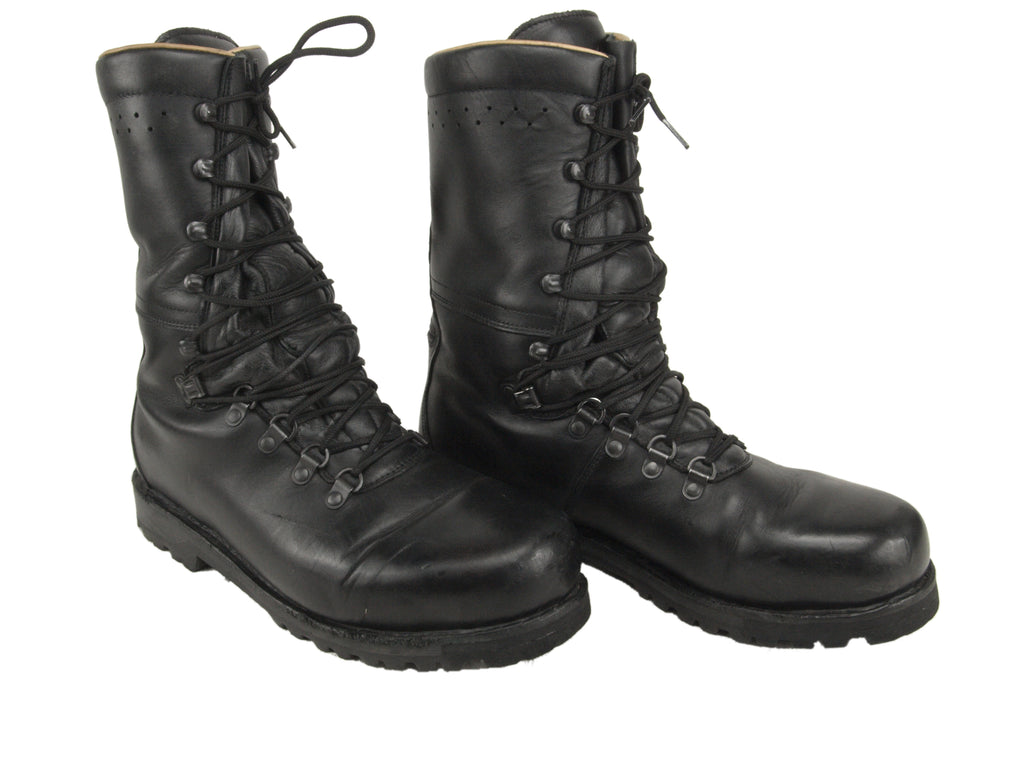 Austrian Heavyweight Leather Combat Boots with leather lining for additional warmth and padding.