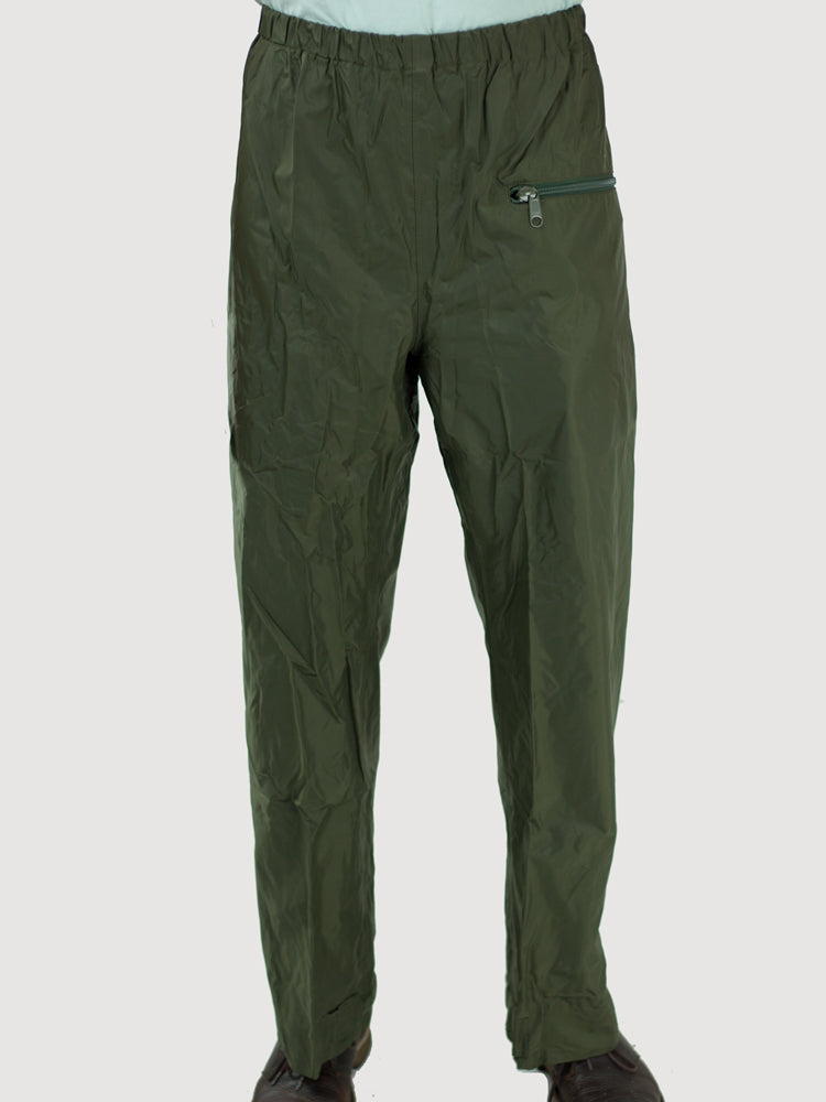 Dutch Army Waterproof Over Trousers - Olive Green - Self Packable - Unissued - Small