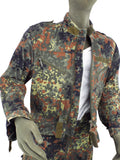 German Armoured Fighting Vehicle Two-piece padded Suit - Flecktarn camo