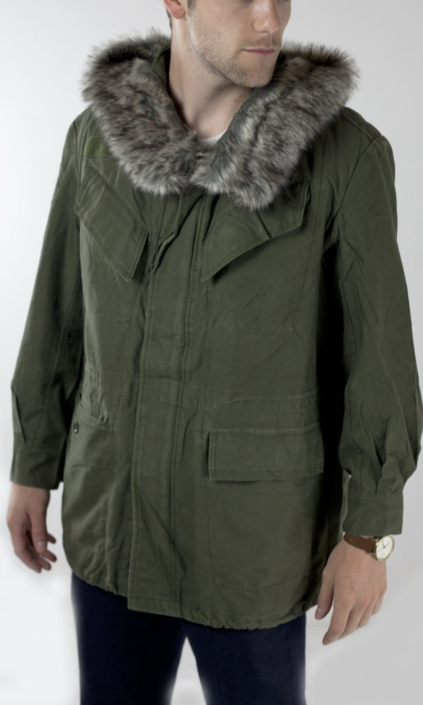 Belgian Army Surplus M89 Parka - Fur Hood