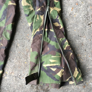 British Army Gore-Tex Trousers - Woodland DPM Camo - zipped dart ankle