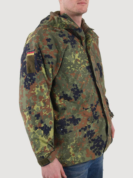 German Army Gore Tex Jacket Parka Flecktarn Camo