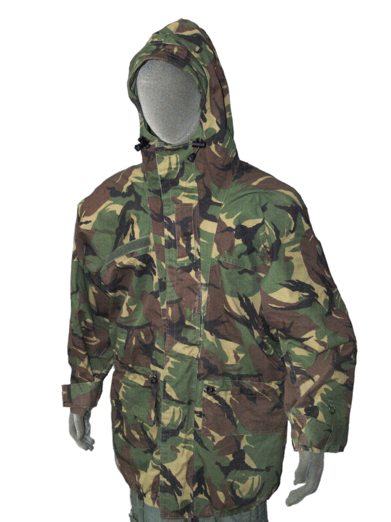 Dutch Waterproof Camo Parka - bi-laminate fabric – DISTRESSED RANGE