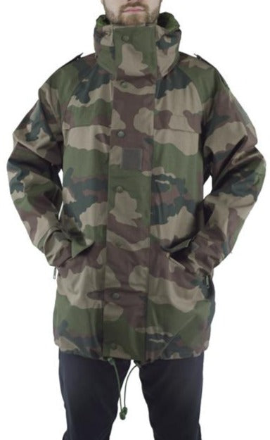 "French Woodland CCE Camo Army ""Gore-tex"" Jacket - used Grade 1"