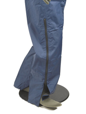 French Blue Waterproof Over trousers - with pass-through pockets (New)