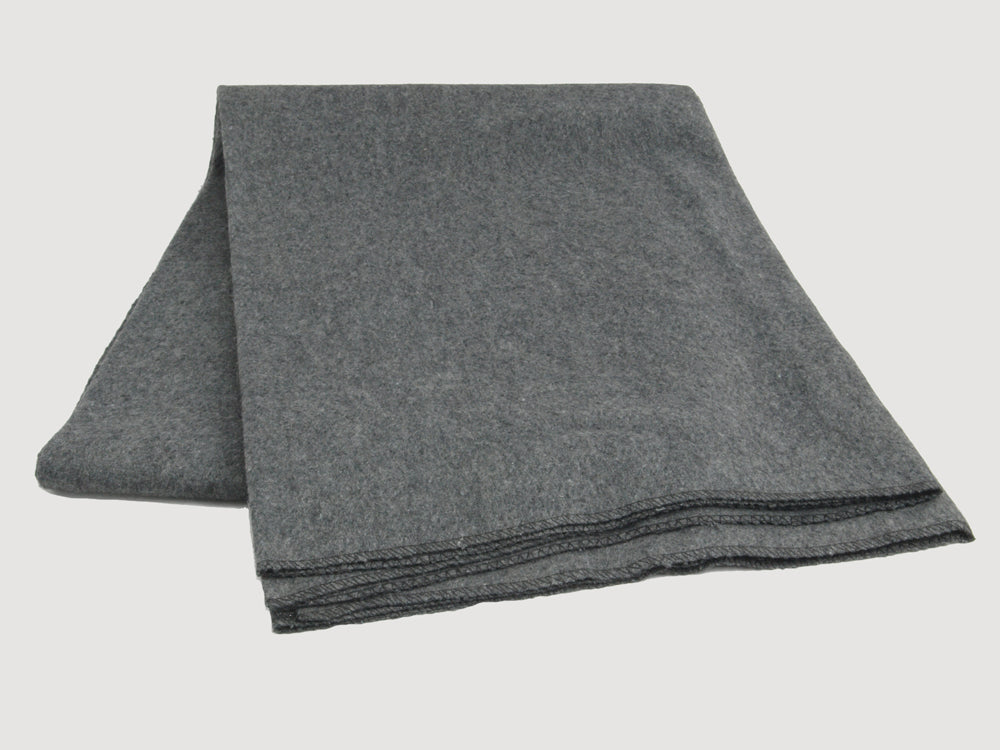 Dark Grey Wool-rich Military Blanket – new