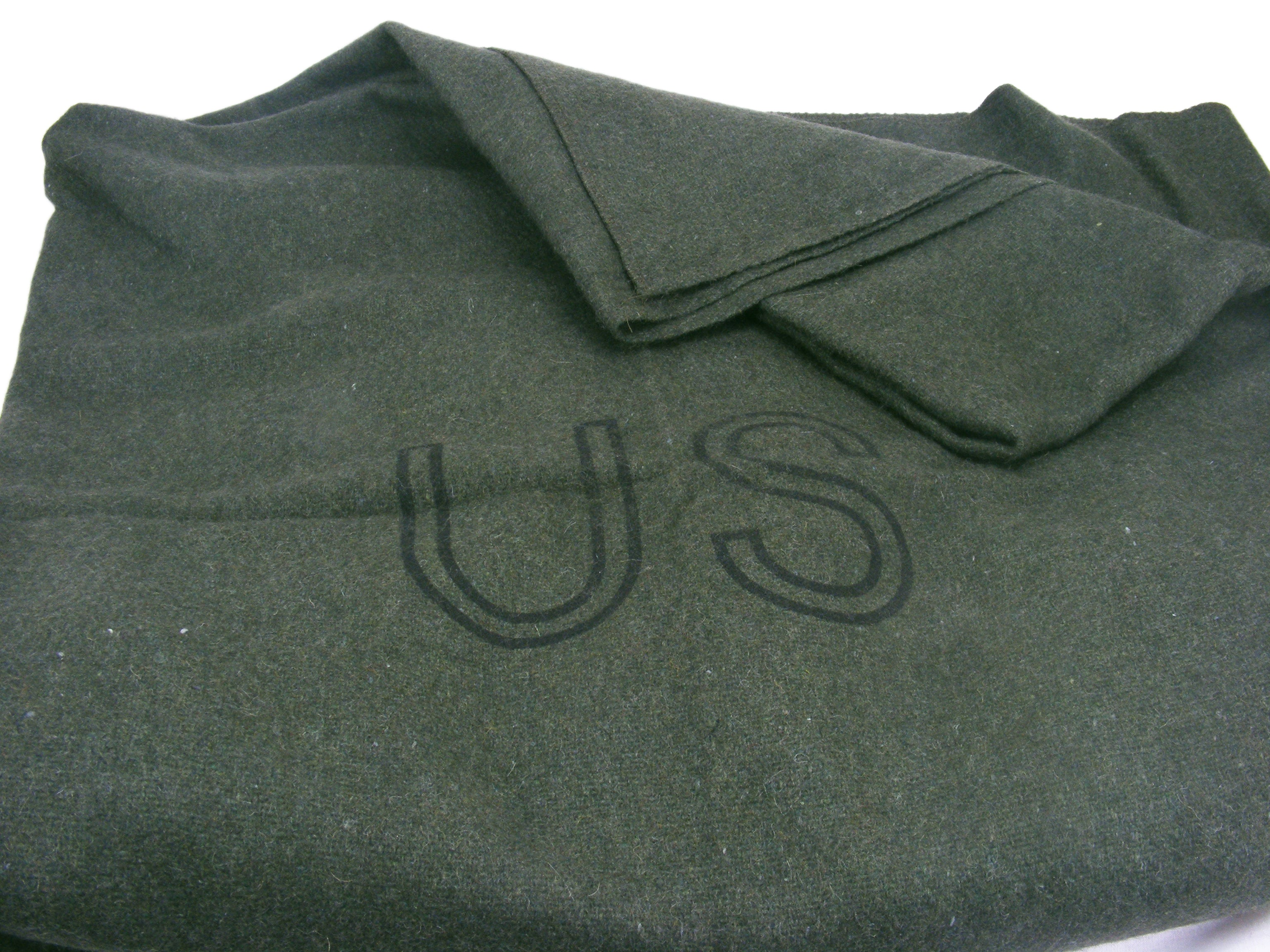 US Army Wool  Rich Blanket - Dark Green - Unissued