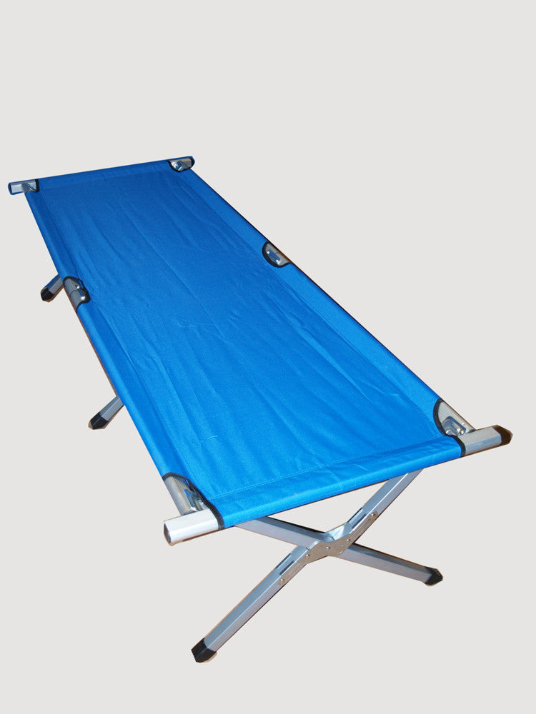 US/British Army Style Folding Camp Bed - blue or green
