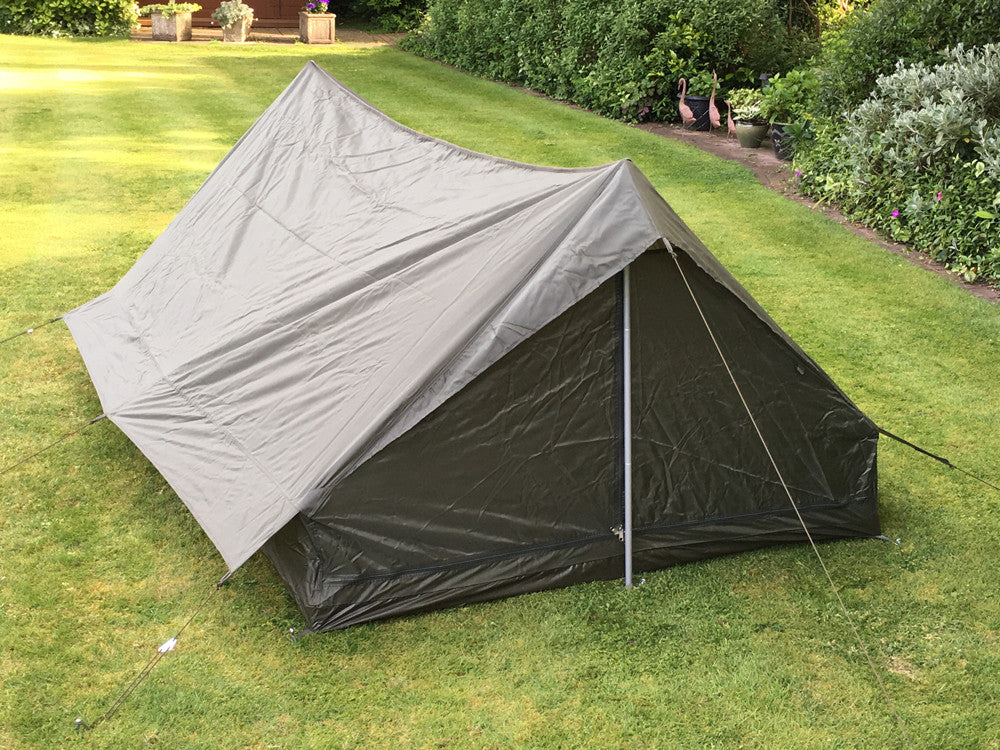 Two-man tent - one piece.