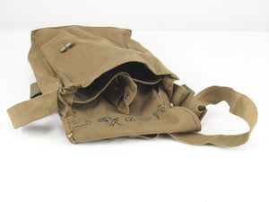 Czech Army Khaki Canvas Shoulder Bag - with toggles