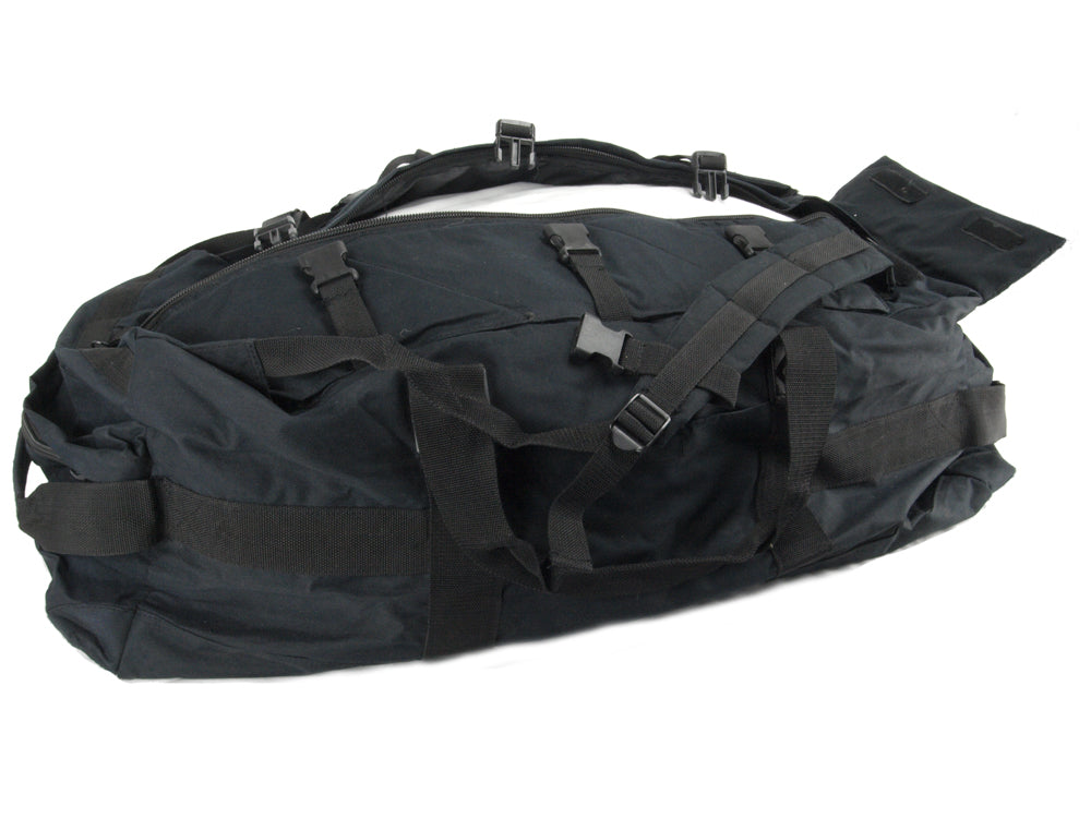 British Black Military Holdall/Deployment Bag/rucksack - British and Dutch Army Surplus