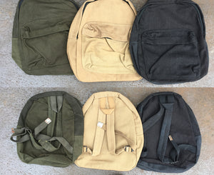 German Small Canvas Military Backpack - German Army Surplus