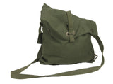 "Swedish Olive Green Canvas ""wedge"" bag"