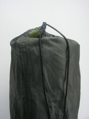 Dutch thin (1cm) military rolled sleep mat - with olive green carry bag
