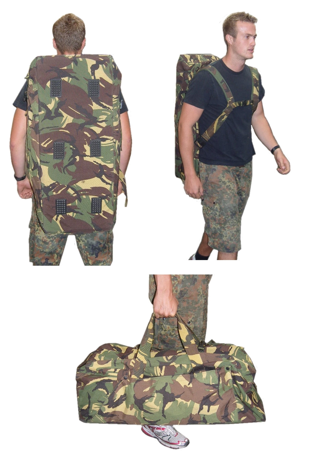 Camo Military Deployment hold-all Dutch Army Surplus