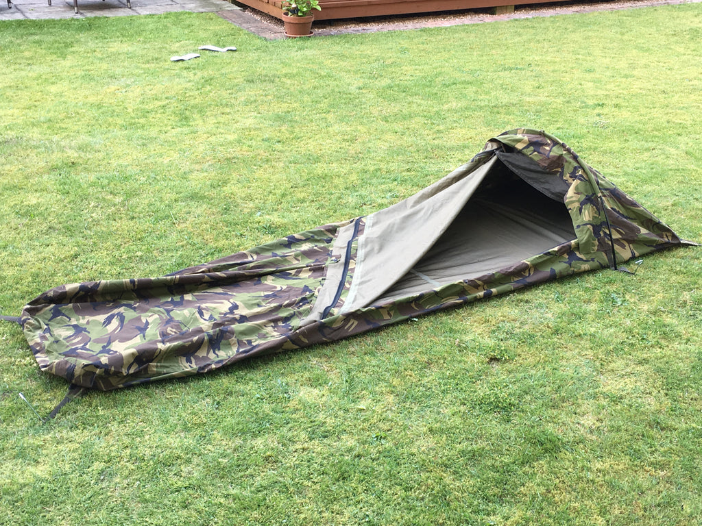 "Dutch ""Gore-Tex"" Camo Military ""Hooped"" Bivvy Bag - Used"