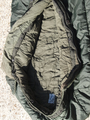 Dutch M90 Cold Weather Military Sleeping Bag - (Stud bivvy connector type)