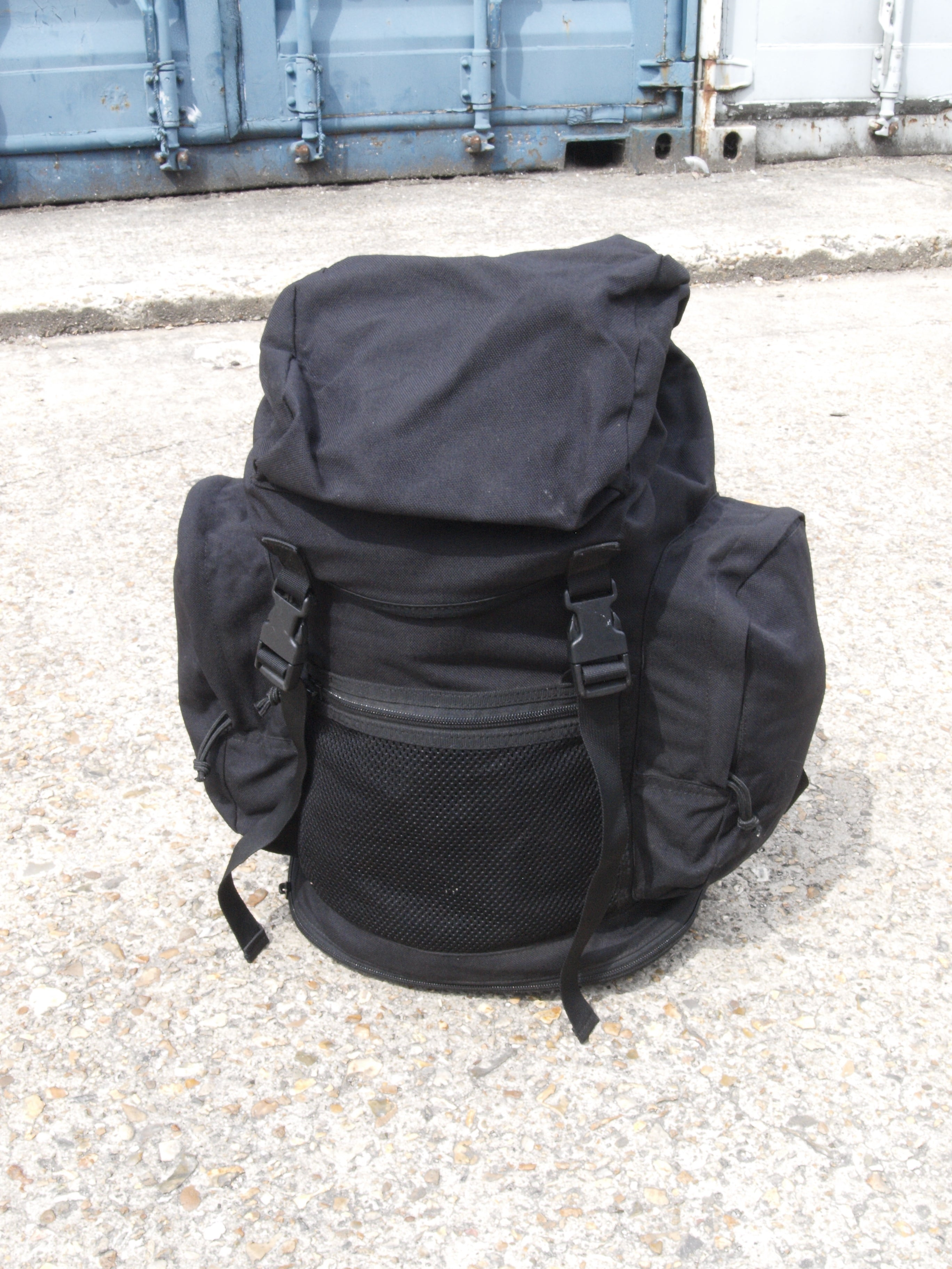 British Army Black Rucksack – 30 litre