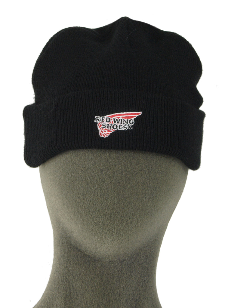 "US ""Red Wing Shoes"" Black Beanie Hat - brand new (un-lined)"