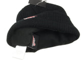 "US ""Red Wing Shoes"" Black Fleece-lined Beanie Hat - brand new"