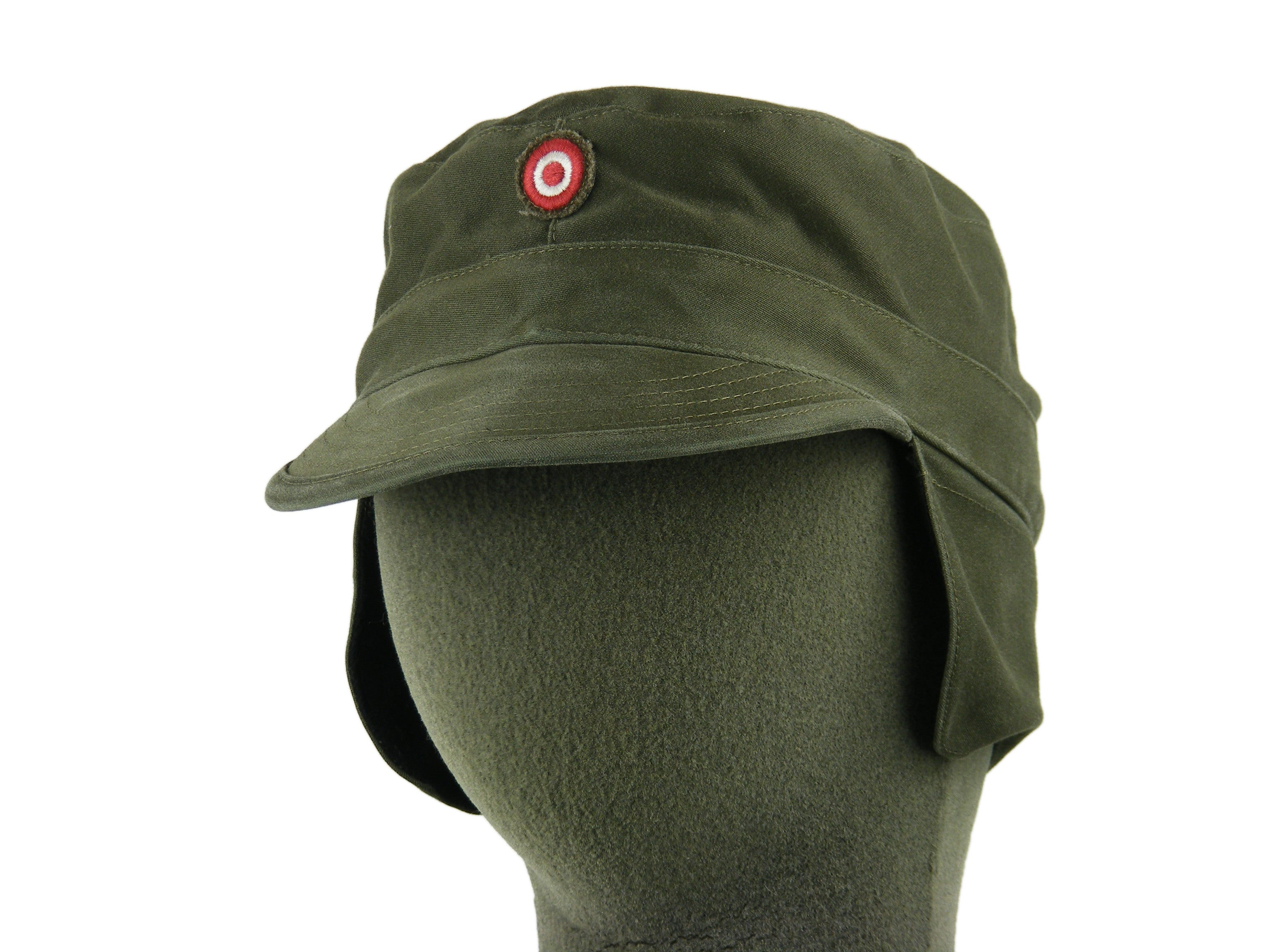 Austrian Olive Green Fatigue cap with neck shield