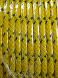 220 metre reel of soft-feel yellow polypropylene rope - ideal for nautical use