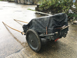 German, Swiss-made horse-drawn ammunition cart - genuine WWI or WWII vintage