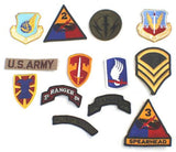 Pack of 10 vintage US military cloth badges