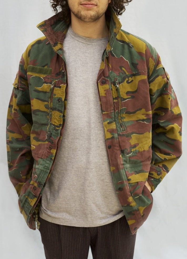 Belgian Army Jacket - Jigsaw Camouflage - DISTRESSED RANGE