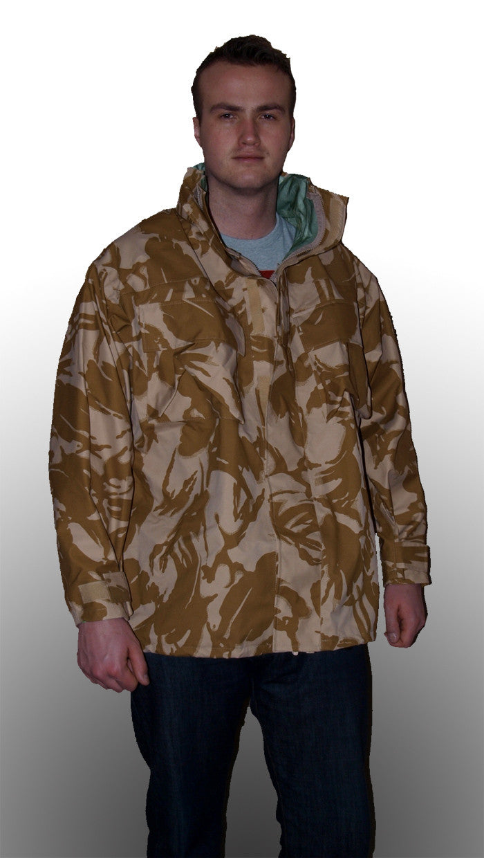 British army surplus desert camo gore-tex jackets