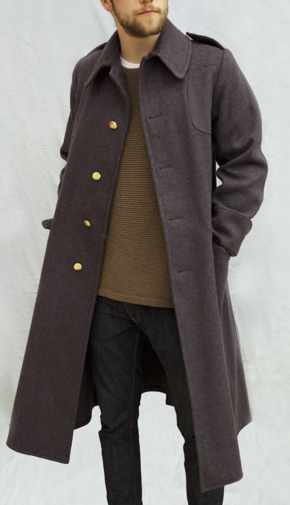 British Army Guards Greatcoat - Grey Wool - DISTRESSED RANGE