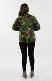 Vintage Womens DPM Camo Jacket - Back