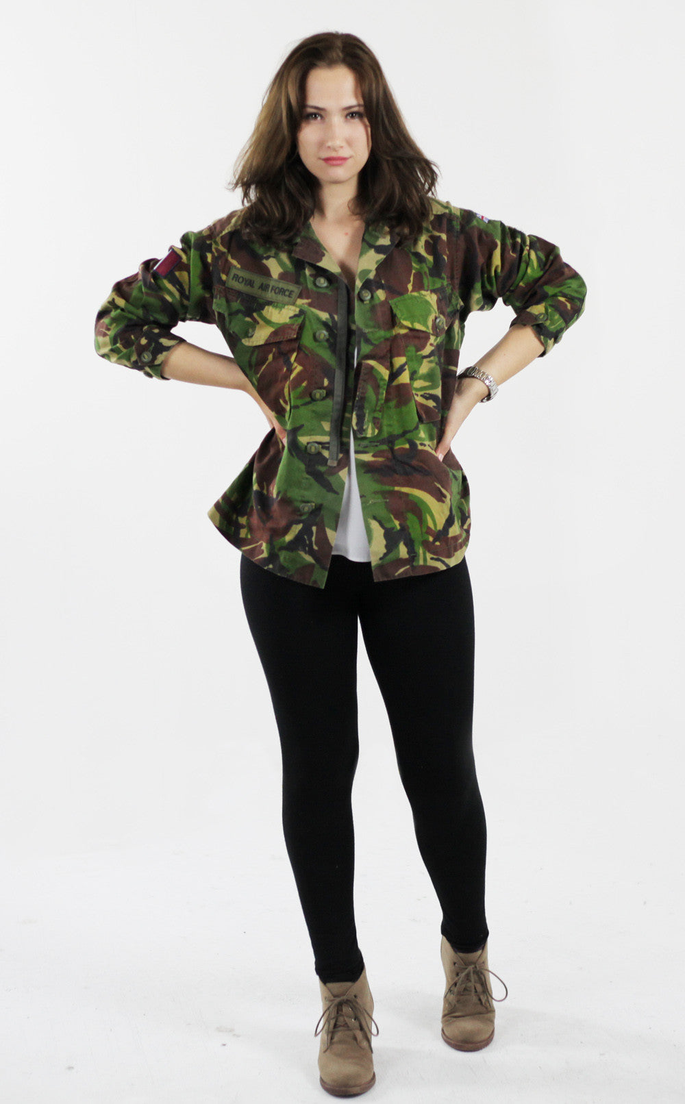 6ef3d687f13b1 Vintage Women's DPM Camo Shirt Jacket - Soldier 95 | Forces Uniform ...