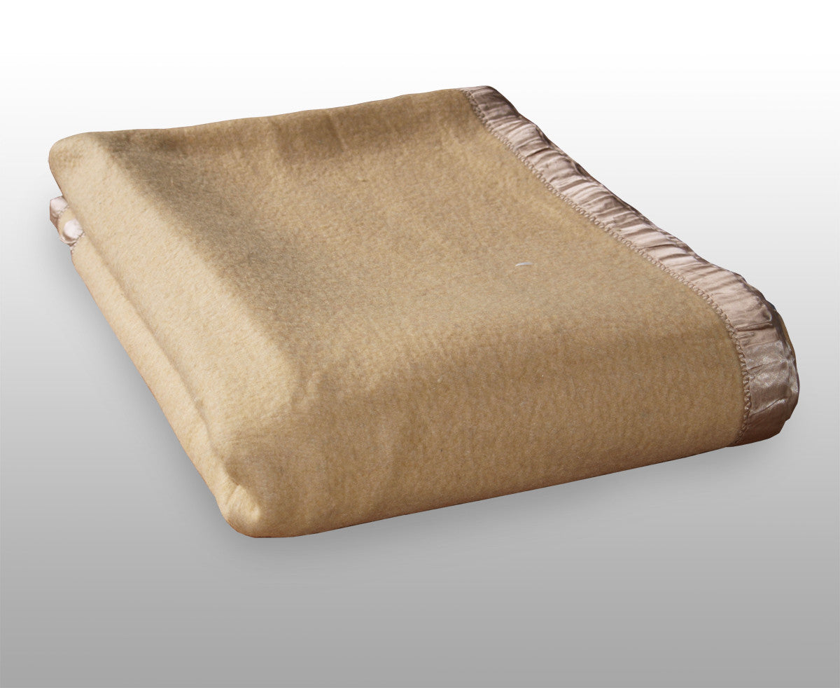 Cream Colour Wool Military Blanket - British Army Surplus