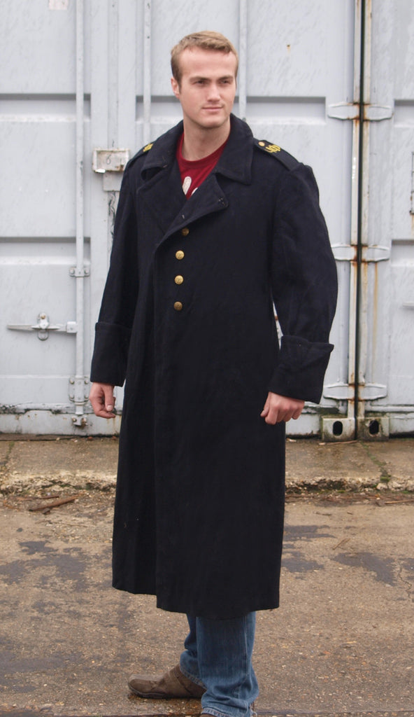 Bulgarian Black Wool Full Length Greatcoat – Soviet era