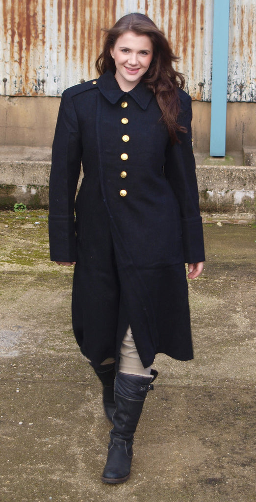 Women's Bulgarian Black Wool Full Length Greatcoats - Soviet era