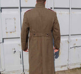 Mens Soviet Military Wool Greatcoat - Khaki