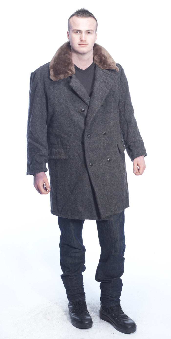 Mens Bulgarian Military Sheepskin lined Wool Coats – Soviet era