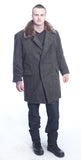 Sheepskin Lined Military Coats For Men Grey