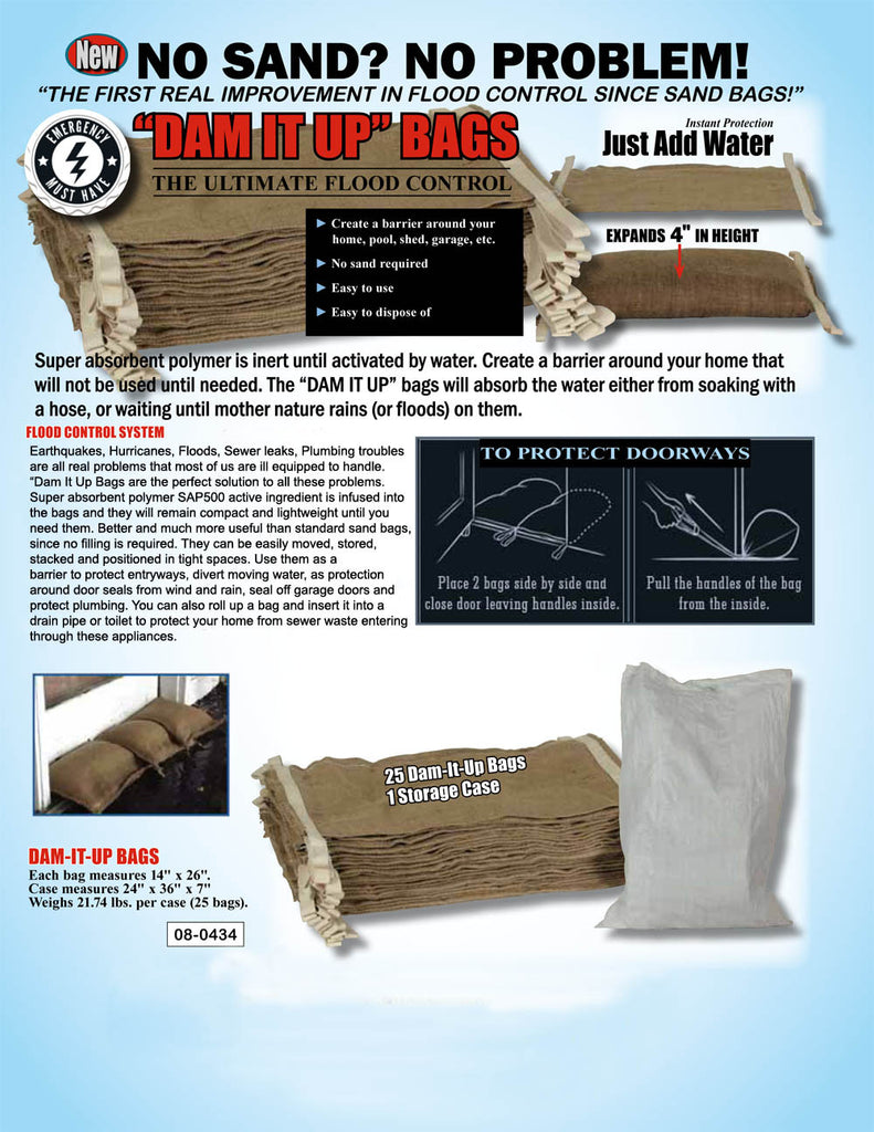 Home Flood Defence Kit - Water Activated Sandbags