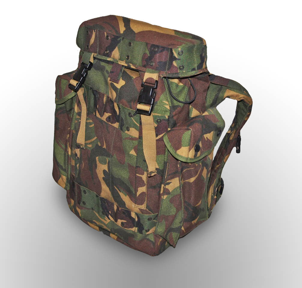 Camo Waterproof Military Rucksack - Dutch Army Surplus