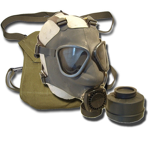 Finnish Army Gas Mask + Bag