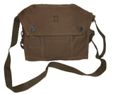 khaki army canvas shoulder bag/satchel