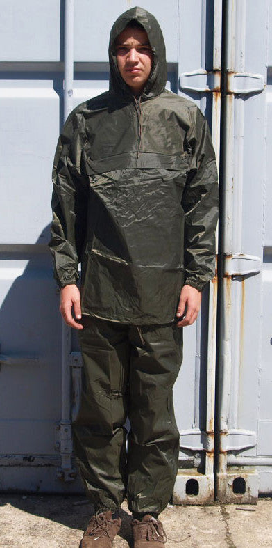 French Army Waterproof Rain Suit Green
