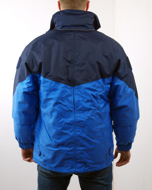 French Border Police Blue Waterproof Jacket - Hi Vis