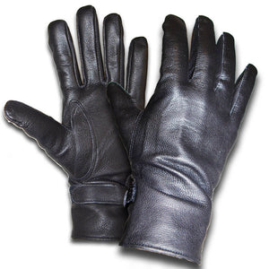 Black Leather Gloves - French Army Surplus