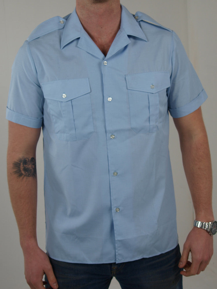 Short Sleeve Pilots Shirts - Genuine French Airforce